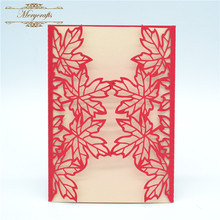 Maple leaves MR109 ideal products wedding invitation cards in pearls