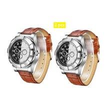 6f77dccf2bf 2 pçs lote Top dos homens marca de luxo relógios de pulso homens relogio  masculino Militar Mais Leve de Carga USB Isqueiro À Pro.
