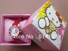 Gift boxes hello Kitty women's watches \ \ students watch children watches in box  free shipping1pcs/lot