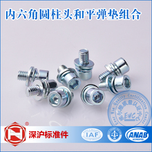 Factory Direct Sales Carbon Steel Hexagon Socket Head Cap Screw, Single Coil Spring Lock Washer and Plain Washer Assemblies