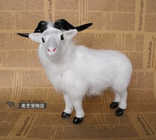 small simulation goat toy lifelike handicraft sheep gift about 24x10x22cm