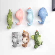 Cute Cartoon Animal Stereo Wall Dinosaur Creative Personality of Children Room Decoration Hook Whale Gift