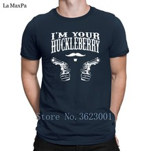 Print Cotton Simple T Shirt I'm Your Huckleberry Vintage Distressed Look Tee Shirt Fun Spring T-Shirt Top Tee Cool Nice(China)