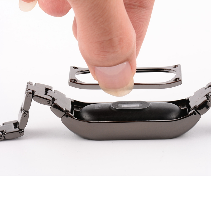 Ollivan Replacement Metal Strap For Xiaomi Mi Band 2 Zinc Alloy Wrist Band Bracelet Replace Accessories For Miband 2