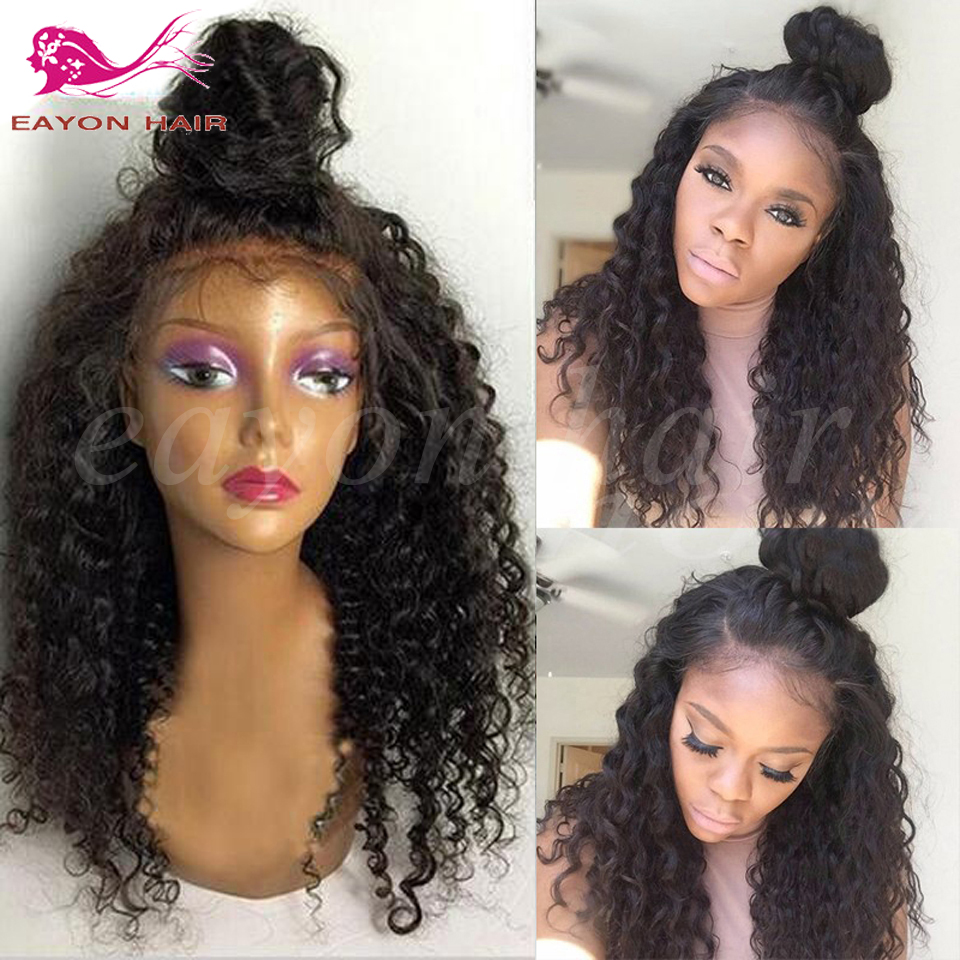 long curly lace front wigs afro kinky curly lace front synthetic wigs for black women heat resistant black hair deep curly wigs<br><br>Aliexpress