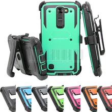 For LG K7 X210DS/K10/G5/X power/V20/Stylo Stylus 2 Plus LS775 Heavy Duty Hybird Armor Hard Case Cover+Holster With Belt Clip }(China)