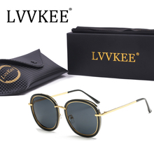 2017 LVVKEE  Brand Unisex Sunglasses Men/Women Fashion Blue Silver Mirror Anti-vertigo Polarized Sun Glasses Metal Frame Ray