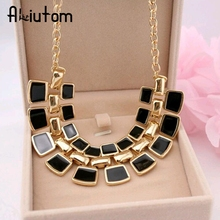 Buy ALIUTOM 2018 Trendy Necklaces Pendants Link Chain Collar Long Plated Enamel Statement Bling & Fashion Necklace Women Jewelry for $1.33 in AliExpress store