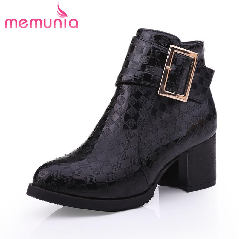 New arrive a fashion design unique charm and yet the atmosphere ankle boots for women buckle pointed large size shoes<br><br>Aliexpress