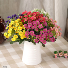 6 heads/piece Artificial Silk chrysanthemum Flowers for Home Livingroom table furnishingsWedding Decoration