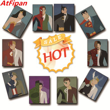 AtFipan Oil Painting Canvas Print Cartoon Poster Super Hero Superman Wall Art Work Picture Home Decor Gift BUY TWO GET ONE FREE