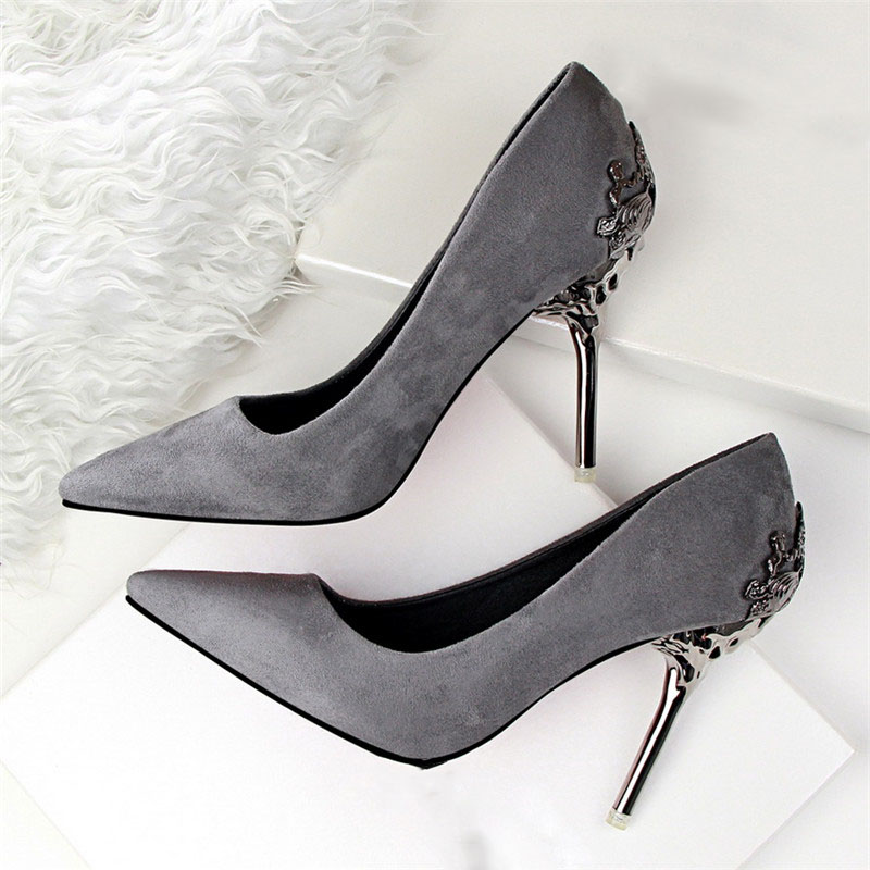 Sexy High Heels Shoes Woman Pumps Red Gold Silver High Heels Shoes Woman Ladies Wedding Party Shoes 2018 13