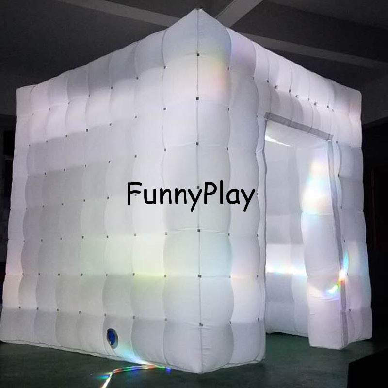 LED lighted inflatable photo booth5