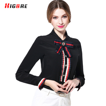 Blusas Femininas 2017 Camisas Spring Summer High Quality Long Sleeve 100 Pure Silk Blouses For Women Plus Size Blouse Designs