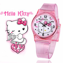 2017 Mouse Sports Watches Women Ladies Kids Hello Kitty Cartoon Watch with Silicone 50M Water Resistant Fashion Clock Relojes