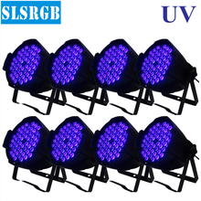 8pcs/lot UV 3w 54pcs led par 64 led lighting lamp led par 54x3w Single color UV LED Par 64 Lighting