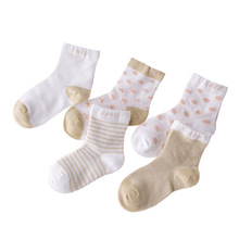 5 Pairs Socks Set Baby Boy Girl Cotton Cartoon Candy Colors Dot, breathable, stylish Socks Infant Toddler Kids Soft Sock(China)