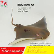 Hot toys baby devil rays flying rays Manta ray Simulation model Marine Animals Sea kids gift educational props Action Figures