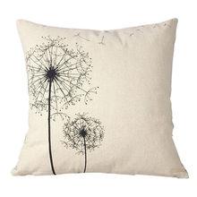 Ouneed Dandelion Cotton Linen Square Decorative Throw Pillow Case Cushion Cover Dandelion Capa De Almofada Pillow cover L629(China)