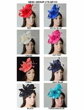 New Arrival.sinamay Fascinator with feather flowers&sinamay loops for Melbourne cup,Wedding.FREE SHIPPING(China)