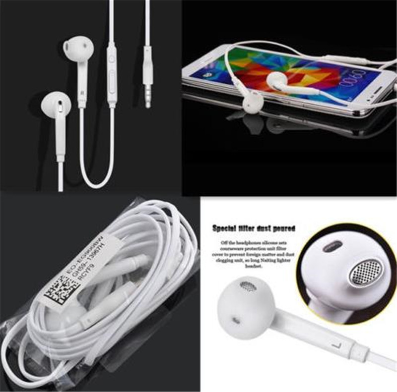 3.5mm S6 in-ear earphones bass headset stereo for Iphone 5s 6 6s 6sp 7 ipad 2 3 4 mini mp3 mp4 samsung S5 S6 sony xiaomi huawei