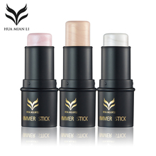 HUAMIANLI Brand 3 Color Face Highlighter Foundation Shimmer Highlighting Powder Cream Light Bronzer Concealer Makeup Stick(China)