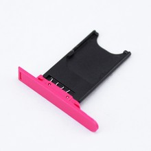 1pcs/lot Free Shipping New Original Sim Card Tray Slot Holder Replacement For Nokia Lumia 800 N800 Black, White, Pink, Blue