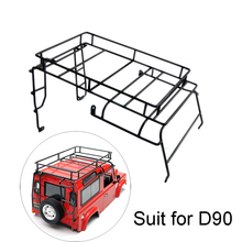RC Crawler 1:10 D90 Metal Roof Rack / Luggage Carrier for RC4WD D90 Defender RC Car Shell Upgrade Parts