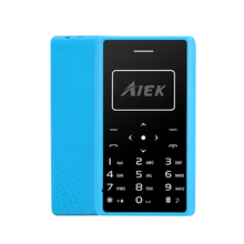 Original AIEK X7 4.88MM Mini Cell Phone Student unlocked Thin Card Mobile Phone Multi Language(China)