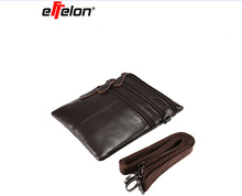 effelon Genuine Leather Men Women Crossbody Bag Mobile Phone Pouch Shoulder Bags For iphone5 5s/6 6s 7 plus 8 Case Fashion(China)