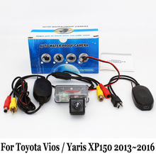 Car Rear View Camera For Toyota Vios / Yaris XP150 2013~2016 / RCA AUX Wired Or Wireless / Night Vision HD Auto Parking Camera