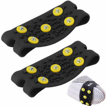 5 Studded Anti-slip Ice Grip Ice Spike Winter Walking Sports anti-slip overshoes outdoor shoes cover(China)