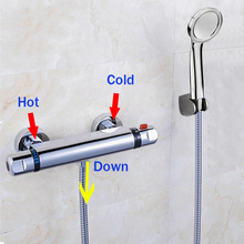 Hot Sale Thermostatic Shower Faucet Thermostatic Mixing Valve Bathroom Faucet with Shower Head Mixer Faucet(China)