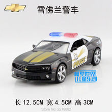 RMZCity/1:36 Diecast toy model/Simulation:Chevrolet Corvette Camaro police/Educational Car for children's gift or collection