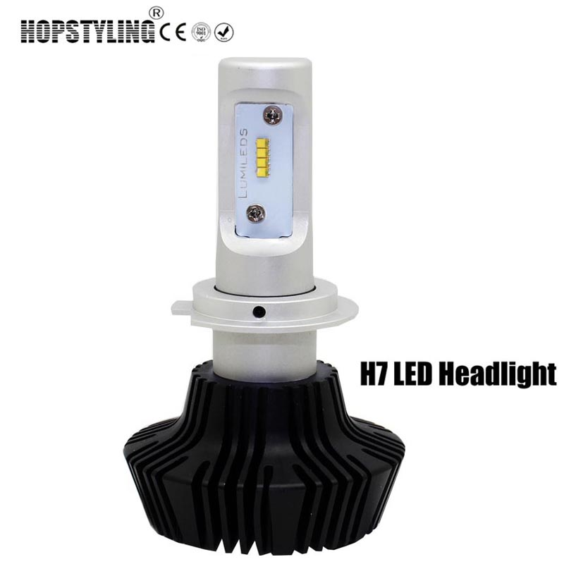 H4 Car headlight with cree chips H7 LED 80W 8000LM 6500K auto fog lights