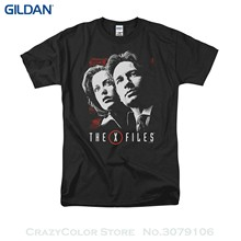 2017 Short Sleeve Cotton T Shirts Man Clothing X Files Mulder & Scully Short Sleeve Shirt Adult(China)