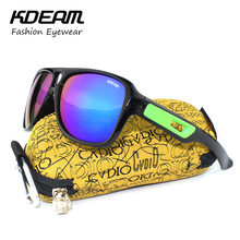 KDEAM Exercise Sunglasses Dispatch Style 2017 Summer New Men Sun glasses Women UV400 Protection HD lens 4 Colors With Hard case
