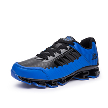 2016 Mens Sport Shoes Running All Seasons Men Shoes Luxury Brand Leather Running Trainers For Men Comfortable Newest Sneakers