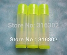 100pcs/lot DIY 5ML  Empty Clear Yellow Lip Balm Tube, 5cc Lipstick Container, Cosmetic Packaing