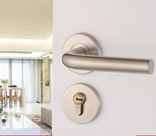 Mortise Interior Door Lock Set Reversal -No Left/Right Handed, 35-45mm thick door-Stainless Steel Handle(China)