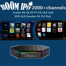 a BoomIPTV subscription Android6.0 95Zplus Smart tvbox 2000+Channels EuropDE FR IT SP UK EX-YU AR TR ALB NL USA qhdtv neotv a95x
