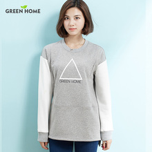 Hot Simple Maternity Sweater Nursing Tops Warming Long Sleeve Hoodies Fashion Breast-feeding Winter Sweater Thick Maternity Tees(China)