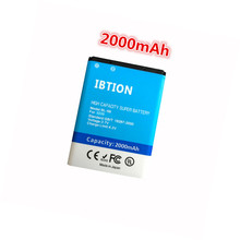 IBTION 2000mAh BL-5B BL 5B High Capacity Battery for Nokia 3 i/5200/5300/5500/6020/6021/6060 etc Mobile Phones(China)