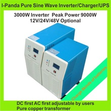 CE ROHS FCC 3000W pure sine wave inverter with battery charge and UPS 3KW Solar UPS Inverter Peak 9KW LCD inverter