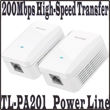 TP-LINK 2pcs one pair AV200 Mini Power line Adapter up to 200Mbps, Ethernet Network Powerline Adaptor, Plug and Play(China)