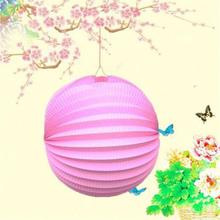Round Chinese Paper Lantern Birthday Wedding Party Decor Gift Craft DIY Wholesale Retail For Home Decor / Parties / Weddings(China)