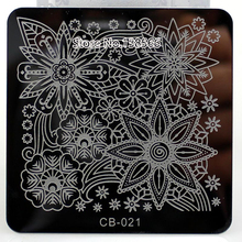 New Nail Art Stamping Plate Square Ape Monkey Bear Flower Image Manicure Stamp Plate Polish Transfer Template Manicure Gift 2017
