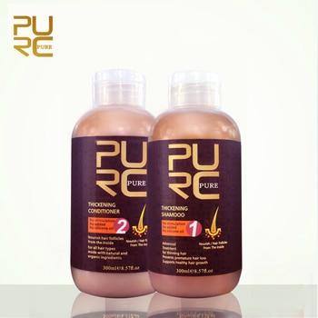 PURC шампунь и кондиционер для волос для роста волос и волос потеря 300 мл набор предотвращает преждевременное истончение волос для мужчин и же...