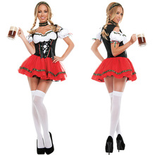Womens Oktoberfest Costume German Beer Girl Outfits Fancy Dress Overalls Restaurant Maid Dressing Costumes Halloween Party