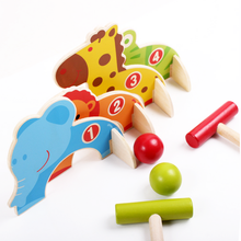 1 Set Wooden Cute Children's Cartoon Baseball Croquet Sports Games Cute Animal Gate Ball Golf Early Educational Kids Toys Gifts